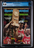 Basketball Collectibles:Publications, 1983 N.C. State Basketball Sports Illustrated Cover - CGC 9.0, Pop One With None Higher. ...
