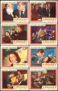 """The Accused (Paramount, 1949). Fine/Very Fine. Lobby Card Set of 8 (11"""" X 14""""). Mystery. ... (Total: 8 Items)"""