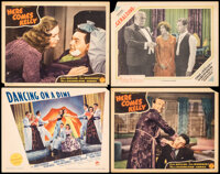 """Dancing on a Dime & Other Lot (Paramount, 1940). Fine+. Lobby Cards (4) (11"""" X 14""""). Musical. ... (Total:..."""