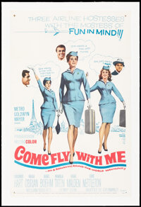 """Come Fly with Me (MGM, 1963). Very Fine on Linen. One Sheet (27"""" X 41.5""""). Romance"""