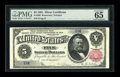 Large Size:Silver Certificates, Fr. 266 $5 1891 Silver Certificate PMG Gem Uncirculated 65 EPQ....