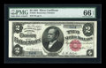 Large Size:Silver Certificates, Fr. 245 $2 1891 Silver Certificate PMG Gem Uncirculated 66 EPQ....