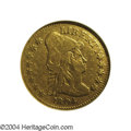 Early Quarter Eagles: , 1804 $2 1/2 14 Star Reverse--Damaged, Cleaned--ANACS. Fine ...