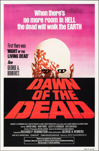 """Dawn of the Dead (United Film Distribution, 1978). Folded, Very Fine. One Sheet (27"""" X 41"""") Red Style. Horror..."""