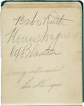 Baseball Collectibles:Others, 1930's-'40's Baseball Greats Multi-Signed Book with Babe Ruth, Mel Ott & Honus Wagner. ...