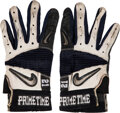 """Football Collectibles:Others, 1990's Deion Sanders Game Worn Gloves with """"Prime Time"""" Reference. ..."""