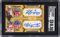 Football Cards:Singles (1970-Now), 2010 Topps Supreme Peyton Manning-Eli Manning (Dual Patch Auto) #SDA-MM SGC NM/MT+ 8.5, Auto 10 - #'d 1/1! ...