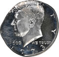 1973-S 50C Kennedy Half Dollar -- Struck on 25C Planchet -- PR67 Cameo NGC. 5.5 grams. A boldly detailed piece with liqu...