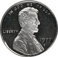 """1977-S 1C Lincoln Cent -- Struck on 10C Planchet -- PR68 Ultra Cameo NGC. 2.3 grams. A remarkably attractive """"silve..."""