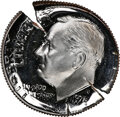 1973-S 10C Roosevelt Dime -- Triple Struck with Clashed Dies -- PR68 Ultra Cameo NGC. Heavy clash marks are evident on e...