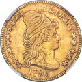 1796/5 $5 BD-1, High R.4 -- Cleaned -- NGC Details. AU....(PCGS# 519862)