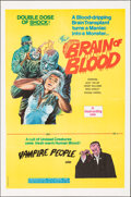 """Movie Posters:Horror, Brain of Blood/Vampire People Combo (Hemisphere Pictures, 1972). Folded, Very Fine. One Sheet (27"""" X 41"""") Gray Morrow Artwor..."""