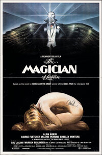"""The Magician of Lublin & Other Lot (Cannon, 1979). Folded, Fine/Very Fine. Autographed One Sheets (2) (27"""" X 41..."""