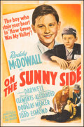 """Movie Posters:Drama, On the Sunny Side (20th Century Fox, 1942). Very Fine- on Linen. One Sheet (27.25"""" X 41""""). Drama.. ..."""