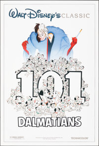 """101 Dalmatians (Buena Vista, R-1985). Rolled, Very Fine. One Sheet (27"""" X 40"""") DS. Animation"""