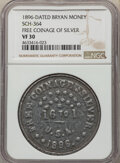 U.S. Presidents & Statesmen, 1896-Dated Free Coinage of Silver, Bryan Money, Sch-364, VF30 NGC....