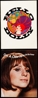 """Barbra Streisand Lot (Various, 1969-1985). Fine/Very Fine. Programs (2) (Multiple Pages, 8.5"""" X 11.25"""" & 8..."""
