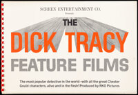 Dick Tracy Feature Films & Other Lot (Screen Entertainment Co., R-1950s). Fine/Very Fine. Comb Bound Exhibitor Book...