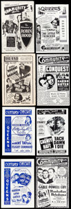 """Movie Posters:Miscellaneous, Movie Theater Flyers (Various, 1928-1955). Folded, Overall: Very Fine. Flyers (16) (Multiple Pages, 4"""" X 5.75"""" - 5.5"""" X 8.5""""... (Total: 16 Items)"""