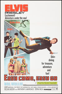 """Easy Come, Easy Go (Paramount, 1967). Flat Folded, Very Fine-. One Sheet (27"""" X 41""""). Elvis Presley"""
