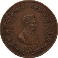 Political:Ribbons & Badges, Abraham Lincoln: Rare 1864 Medal. Listed by Sulli...
