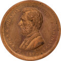 Political:Tokens & Medals, Abraham Lincoln: Copper Medal by Key....