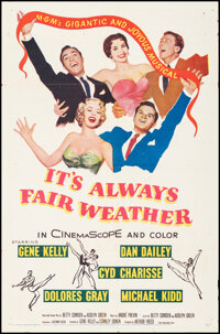 """It's Always Fair Weather (MGM, 1955). Folded, Fine/Very Fine. One Sheet (27"""" X 41""""). Musical"""