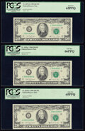 Small Size:Federal Reserve Notes, Fr. 2078-L $20 1990 Federal Reserve Notes. Three Consecutive Examples. PCGS Gem New 66PPQ; Gem New 65PPQ (2).. ... (Total: 3 notes)