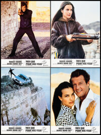 """For Your Eyes Only (United Artists, 1981). Very Fine. French Lobby Cards (10) (8.5"""" X 10.75""""). James Bond..."""