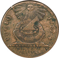 1787 Fugio Cent, Cross After Date, Raised Rims, XF40 NGC. N. 1-Z, W-6610, R.7....(PCGS# 877)