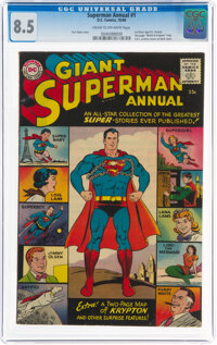 Superman Annual #1 (DC, 1960) CGC VF+ 8.5 Cream to off-white pages