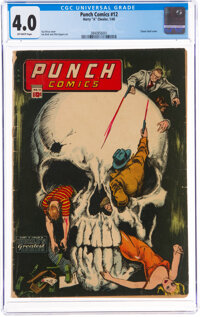 Punch Comics #12 (Chesler, 1945) CGC VG 4.0 Off-white pages