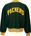 Football Collectibles:Uniforms, 1960's Green Bay Packers Game Worn Sideline Sweatshirt Attributed to Doug Hart from The Glen Christensen Collection. ...