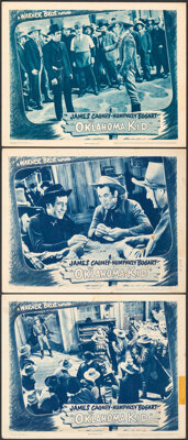 """The Oklahoma Kid (Warner Bros., R-1943). Overall: Fine+. Lobby Cards (3) (11"""" X 14""""). Western. ... (Total: 3 I..."""
