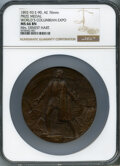 Expositions and Fairs, 1892-93 World's Columbian Expo, Award Medal - Mrs. Ernest Hart, Eglit-90, MS66 Brown NGC. Bronze, 76mm....