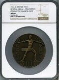 Expositions and Fairs, 1934 Century of Progress Expo, Official Medal - 1934 Edition, MS66 NGC. Bronze, 70mm....