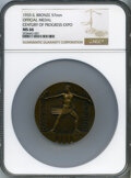 Expositions and Fairs, 1933 Century of Progress Expo Official Medal, MS66 NGC. Bronze, 57mm....