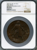 Expositions and Fairs, 1892-93 World's Columbian Expo, Award Medal - Indian Co., Eglit-90, MS66 Brown NGC. Bronze, 76mm....