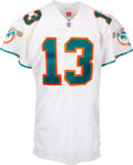 Football Collectibles:Uniforms, 1996 Dan Marino Game Worn Miami Dolphins Jersey with Team Authenticator Letter (Pat Catello) -- Photo Matched!...