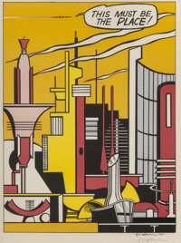 Roy Lichtenstein (1923-1997) This Must Be The Place, 1965 Offset lithograph in colors on paper 21