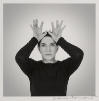 Marina Abramovic (b. 1946) Hands as Energy Receivers, 2014 Digital pigment print 7 x 7 inches (17.8 x 17.8 cm) (image