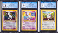 Memorabilia:Trading Cards, Pokémon Black Star Promo Trading Cards Group of 3 (Wizards of the Coast, 2000) CGC Graded. ... (Total: 3 Items)