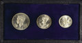 Luxembourg, Luxembourg: Silver 3-piece Specimen Set 1946 in the originalcase:... (Total: 3 coins)
