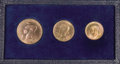 Luxembourg, Luxembourg: Three-piece Copper Essai Set 1946 in the original caseincluding:... (Total: 3 coins)