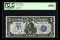 Large Size:Silver Certificates, Fr. 280 $5 1899 Mule Silver Certificate PCGS Gem New 66PPQ....