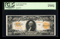 Large Size:Gold Certificates, Fr. 1187 $20 1922 Mule Gold Certificate PCGS Superb Gem New67PPQ....