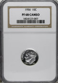 Proof Roosevelt Dimes: , 1956 10C PR68 Cameo NGC. NGC Census: (113/51). PCGS Population(87/10). Numismedia Wsl. Price for NGC/PCGS coin in PR68: $...