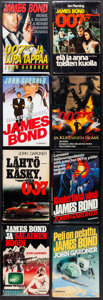 """Movie Posters:James Bond, James Bond Book Lot (Gummerus, 1980-1995). Overall: Very Fine. Finnish Hardcover Books (18) (Multiple Pages, 5.75"""" X 8.5""""). ... (Total: 18 Items)"""