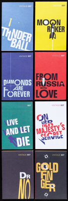"""James Bond Books by Ian Fleming (Vintage Books, 2012). Very Fine+. Paperback Books (18) (Multiple Pages, 5"""" X 8&quo..."""