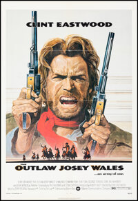 """The Outlaw Josey Wales (Warner Bros., 1976). Folded, Very Fine-. One Sheet (27"""" X 41"""") Roy Anderson Artwork. W..."""